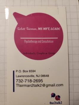 Terbetts business card